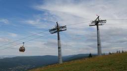 Gondola lift in Swieradow Zdroj, Poland. Jizera Mountains ライブ動画