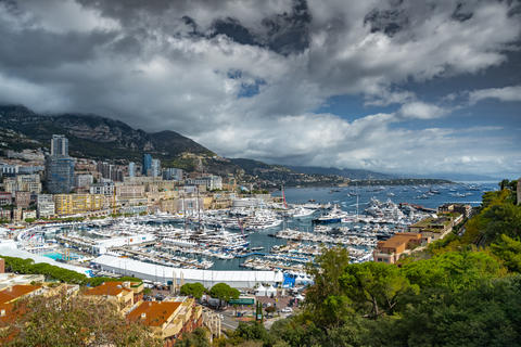 Monaco, Monte-Carlo, The famous place in Monaco - port Hercules, view from old Photo