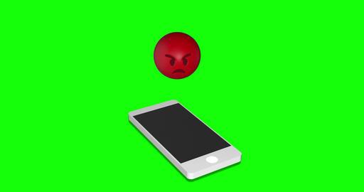 MAY 2020 USA :emoji angry furious angry smartphone angry emoji green screen furious green screen Animation