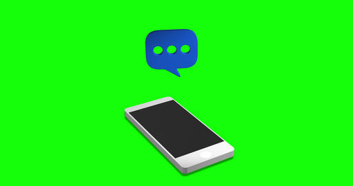 MAY 2020 USA; network smartphone network icon network message green screen smartphone green screen Animation