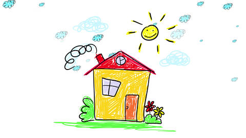 beautiful comfy house for a couple or a small family located on the countryside with plants and a Animation