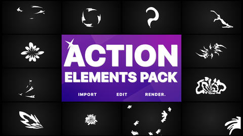 Action Elements And Transitions Pack Animation
