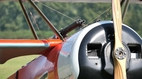 Zoom Red Triplane Fokker Dr. I Military Aircraft of the Red Baron von Richthofen Live Action
