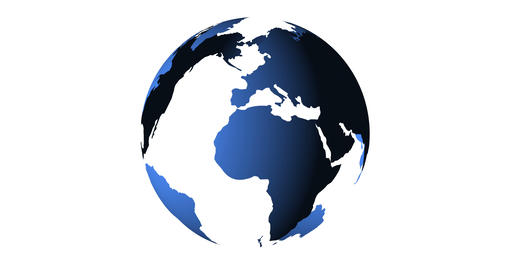 blue planet earth from space showing America and Africa, USA, globe world with blue 3D render Live Action