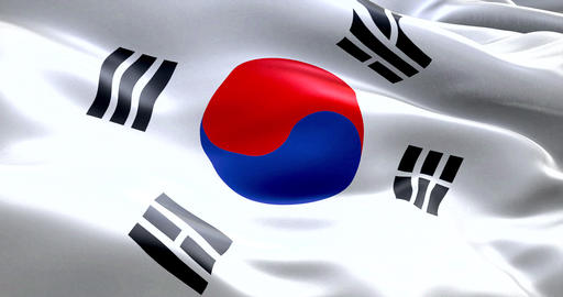 south korea flag waving texture fabric background, crisis of north and south korea, korean Live Action