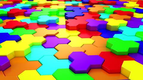 Background of Geometric Shapes GIF