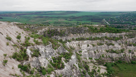 Limestone Quarry in Moldova, Eastern Europe Live Action
