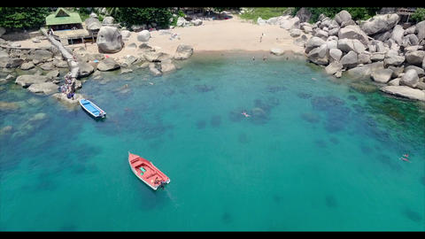 4k Aerial shot of a beautiful beach in Thailand, Live Action