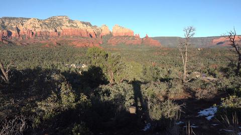 Sedona Arizona man shadow mountain valley landscape 4K Footage