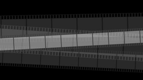 Black moving filmstrips video animation Animación