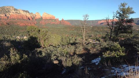 Sedona Arizona shadow mountain valley landscape 4K Footage
