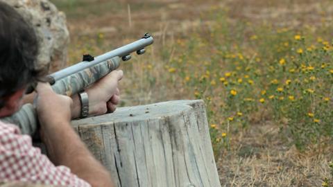 Shooting black powder rifle P HD 2122 Footage