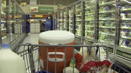 Shopping frozen food isle housewife POV HD 032 Footage