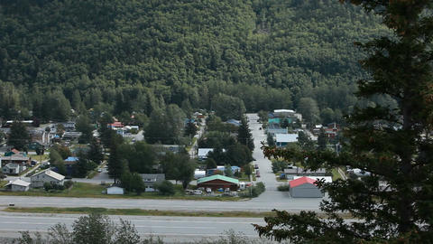 Skagway City pan right P HD 8763 Footage