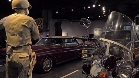 Smithsonian National Museum American History police motorcycle 4K Footage