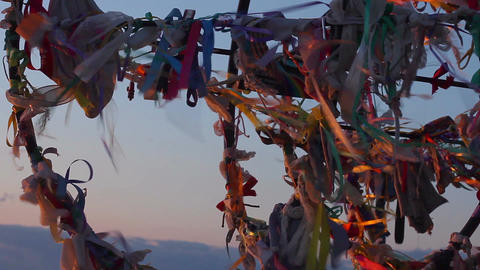 Traditional wish tree, tourist attraction, dreams come true, hopes for future Live Action
