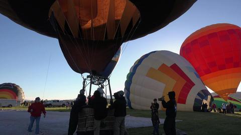 Smokey Bear Hot Air Balloon ready for flight 4K Footage
