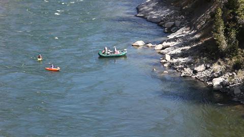 Snake River fishing and kayaks P HD 3449 Footage