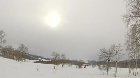 Snowmobile club starts ride winter mountain HD 002 Footage