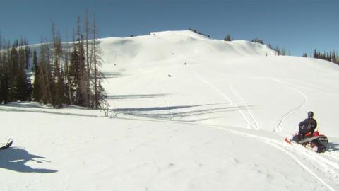 Snowmobiles himarking HD GP 9 Footage