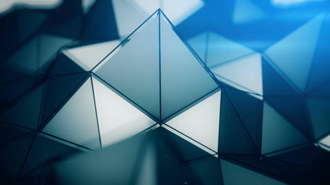 Polygonal surface close-up loopable 3D render Animation