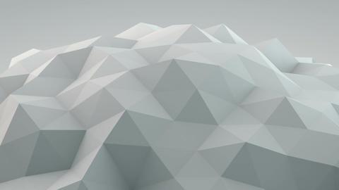 White polygonal shape vibrating seamles loop 3D render Animation