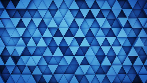 Blue extruded triangles hipster background 3D render loopable Animation