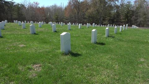 Spotsylvania Confederate Cemetery unknown soldiers 4K 024 Footage