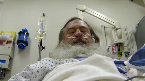 Surgical patient recovery room mature man beard HD 002 Footage
