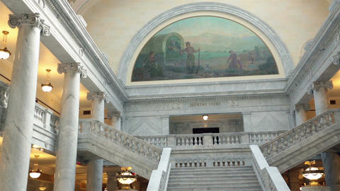 Supreme Court Utah State Capital building HD 4738 ภาพวิดีโอ