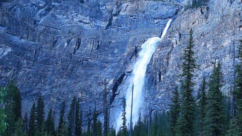 Takakkaw Falls forest landscape P HD 7425 Footage