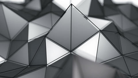 Low poly surface moving seamles loop 3D render Animation