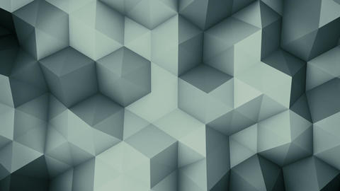 Dark grey polygons. Abstract background loopable Animation