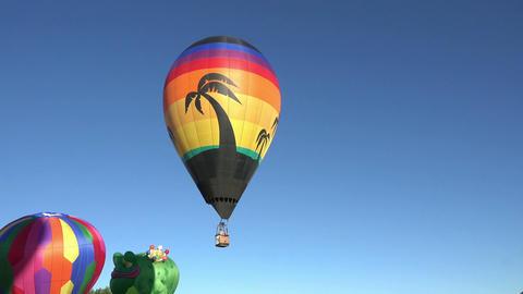 Tropical hot air balloon takeoff launch 4K Footage