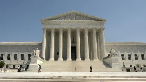 United States Supreme Court building entrance Washington DC 4K 035 Footage
