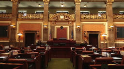 Utah State Capital Congress House of Representative Chamber zoom HD 4768 Footage