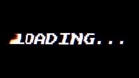 Retro Glitchy 8-Bit Loading Screen Animation