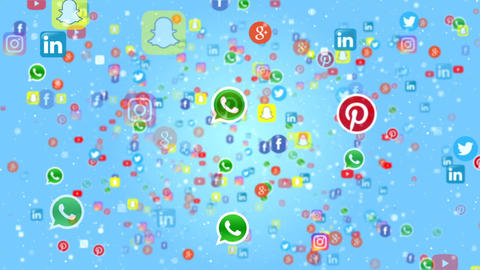 Social Networks Icons CG動画