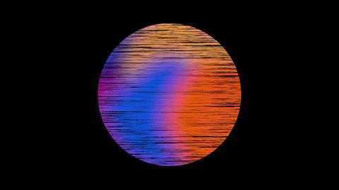 Retro wave liquid gradient moon - shapes sphere Animation
