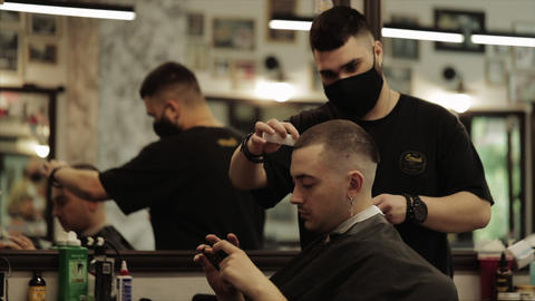 Hair care. Haircut and hair styling. Slow motion video Live Action