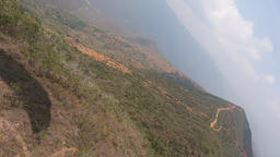 Paragliding Pov View From Action Camera, Flying With Parachute In Mountains Live Action