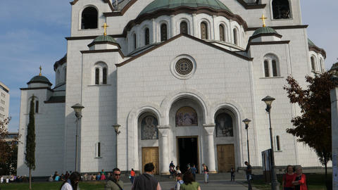 Saint Sava Cathedral in Belgrade is the largest Orthodox Church in the World Live Action