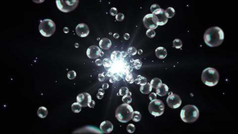 バブル 泡 光 パーティクル ループ アニメーション CG動画