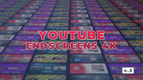 YouTube EndScreens 4K v 3 After Effects Template