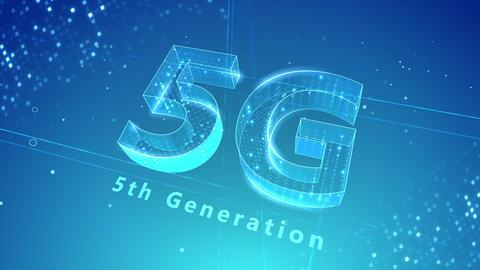 5G Digital Network technology 5th generation mobile communication concept background 3 N2 blue 4k Animation