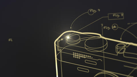 Generic Photographic Camera Blueprint Animation Animation