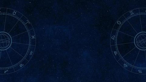 Horoscope and starry sky Animation