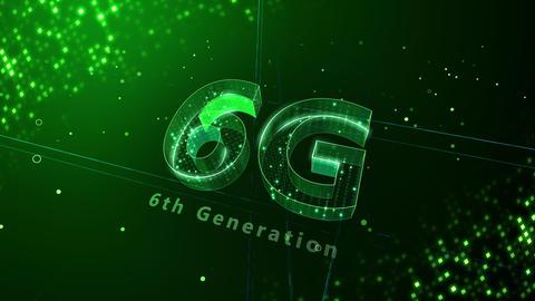 6G Digital Network technology 6th generation mobile communication concept background 3 N2 green 4k Animation