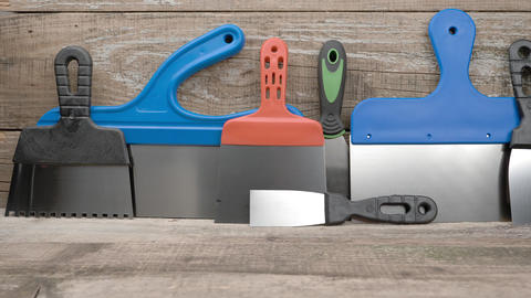 Building tool. The tool of the painter and plasterer Live Action