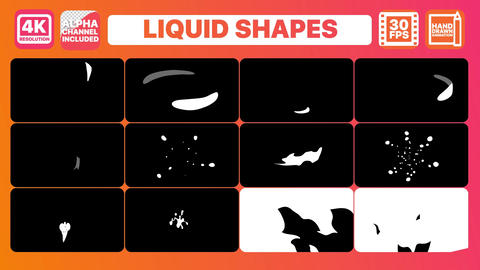 Liquid Shapes And Titles Apple Motion Template